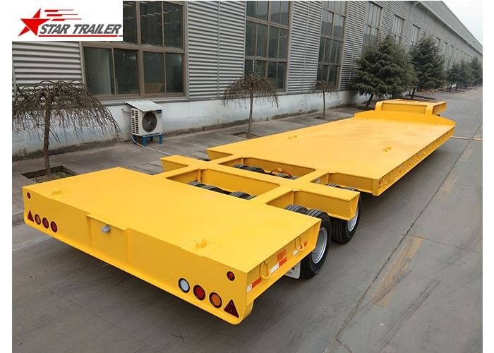 60-100T Heavy Duty Lowboy Trailer Highly Robust Structure Steel Material